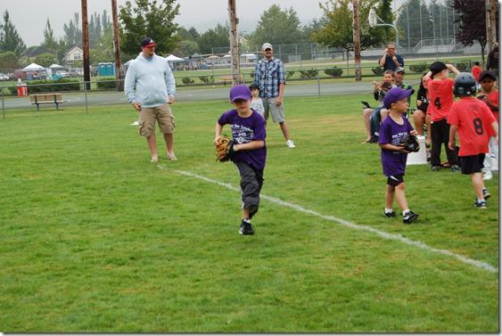 Reece First Baseball Game 010