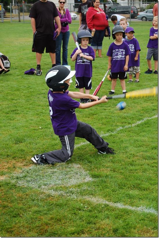 Reece First Baseball Game 013